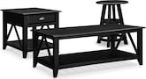 Accent and Occasional Furniture-The Carolina Coastal Black Collection-Carolina Coastal Black Cocktail Table