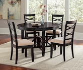 Dining Room Furniture-The Davis Collection-Davis 5 Pc. Dinette