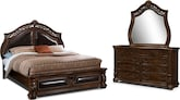 Bedroom Furniture-Saltonstall 5 Pc. King Bedroom