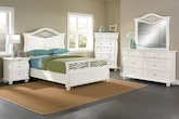 Bedroom Furniture-The Hampden White Collection-Hampden White Queen Bed