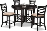 Dining Room Furniture-Davis II 5 Pc. Counter-Height Dinette