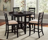 Dining Room Furniture-The Davis II Collection-Davis II 5 Pc. Counter-Height Dinette