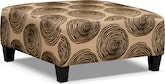 Living Room Furniture-Catalina Chocolate Cocktail Ottoman
