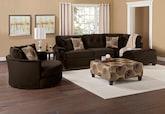 Living Room Furniture-The Catalina II Chocolate Collection-Catalina II Chocolate 2 Pc. Sectional