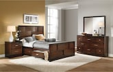 Bedroom Furniture-Claremont 6 Pc. Queen Storage Bedroom