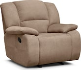 Living Room Furniture-Fortuna Beige Glider Recliner