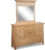 Bedroom Furniture-Wentworth Light Dresser & Mirror