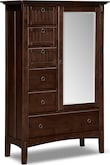 Bedroom Furniture-Wentworth Dark Master Chest