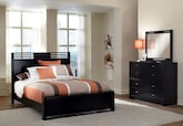 Bedroom Furniture-Kendall Espresso 5 Pc. King Bedroom