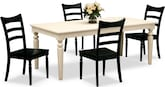 Dining Room Furniture-Thompson Black 5 Pc. Dinette