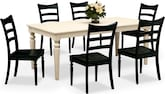 Dining Room Furniture-Thompson Black 7 Pc. Dinette