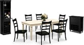 Dining Room Furniture-The Carnival Black Collection-Carnival White Dining Table