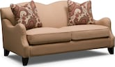 Living Room Furniture-Fairchild Bark Loveseat