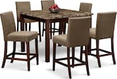 Dining Room Furniture-Baldwin II 7 Pc. Counter-Height Dinette
