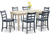 Dining Room Furniture-Thompson II Blue 7 Pc. Counter-Height Dinette