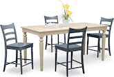 Dining Room Furniture-Thompson II Blue 5 Pc. Counter-Height Dinette