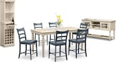Dining Room Furniture-The Thompson II Blue Collection-Thompson II Blue Counter-Height Stool