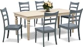 Dining Room Furniture-Thompson Blue 7 Pc. Dinette