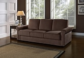 Living Room Furniture-The Bartlett Collection-Bartlett Futon Sofa Bed with Storage