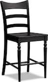 Dining Room Furniture-Thompson II Black Counter-Height Stool