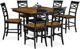 Dining Room Furniture-Sophie Black 7 Pc. Counter-Height Dining Room
