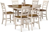 Dining Room Furniture-Sophie Cream 7 Pc. Counter-Height Dining Room