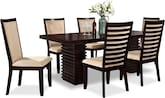 Dining Room Furniture-Costa Camel 7 Pc. Dinette