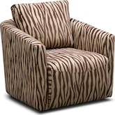 Living Room Furniture-Kimba Brown Swivel Chair