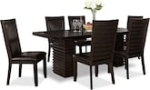 Dining Room Furniture-Costa Brown 7 Pc. Dinette