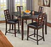 Dining Room Furniture-The Roth II Collection-Roth II Counter-Height Table