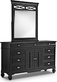Kids Furniture-Magnolia Black Dresser & Mirror
