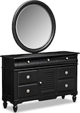 Kids Furniture-Mayflower Black Dresser & Mirror