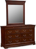 Kids Furniture-Avignon Cherry Dresser & Mirror