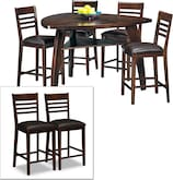 Dining Room Furniture-Lucas 7 Pc. Counter-Height Dinette