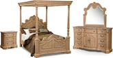 Monticello Almond 6 Pc. King Bedroom