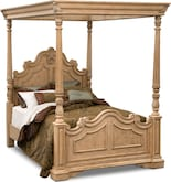 Bedroom Furniture-Lafayette Almond Canopy Queen Bed