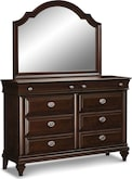 Bedroom Furniture-Dover Dresser & Mirror