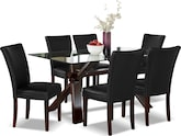 Dining Room Furniture-Vero Black 7 Pc. Dinette