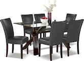 Dining Room Furniture-Vero Gray 7 Pc. Dinette