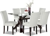 Dining Room Furniture-Vero White 7 Pc. Dinette