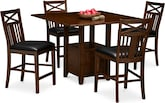 Dining Room Furniture-McCauley 5 Pc. Counter-Height Dining Room