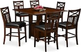 Dining Room Furniture-McCauley 7 Pc. Counter-Height Dining Room