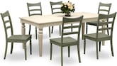 Dining Room Furniture-Thompson Green 7 Pc. Dinette