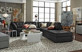 Living Room Furniture-The Largo Black Collection-Largo Black 5-Piece Sectional
