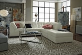 Living Room Furniture-The Largo White Collection-Largo White 5-Piece Sectional