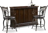 Dining Room Furniture-Carlton Morgan 3 Pc. Bar Set