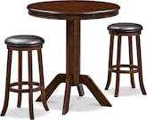 Dining Room Furniture-Welch Cullen 3 Pc. Bar-Height Dinette