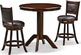 Dining Room Furniture-Welch Geller 3 Pc. Counter-Height Dinette