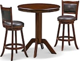 Dining Room Furniture-Welch Geller 3 Pc. Bar-Height Dinette