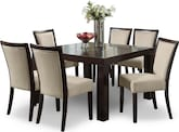 "Dining Room Furniture-Karmon Stone 7 Pc. Dinette (50"" Table)"